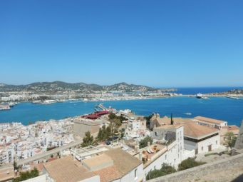 View across the Port of Ibiza
