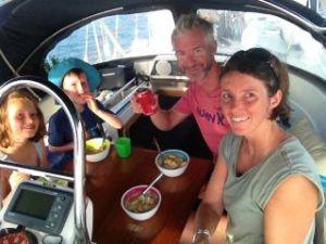 dinner on board